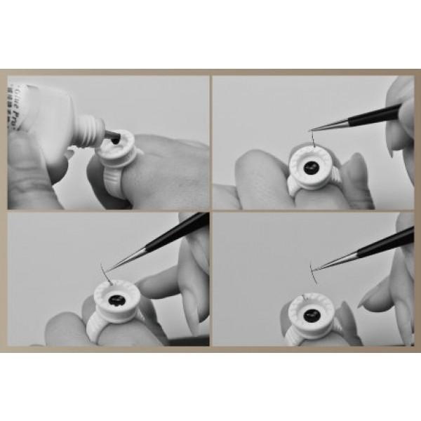 Intelligente Kleber Ring mit O'disk für 2D-3D-6D Volume Wimpernverlängerung